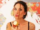 Lizi Benites não dispensa sobremesa nos bastidores do Paparazzo