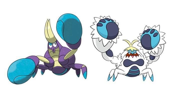 Crabrawler e Crabominable (Foto: Divulgação/Bulbapedia)