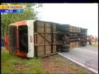 Após acidente entre ônibus e carro, 23 pessoas estão internadas no RS