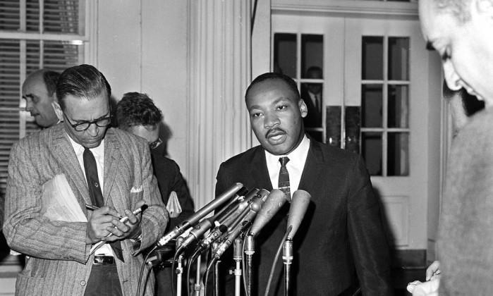 Martin Luther King,  líder do movimento pelos direitos civis nos EUA e Nobel da Paz