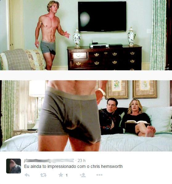Repercussão de Chris Hemsworth (Foto: Reprodução/Twitter)