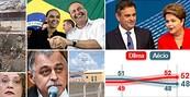 Reviravoltas marcam campanha eleitoral (Walter Mello/A Tribuna de Santos/Folhapress,Reprodução/TV Globo, Ueslei Marcelino/Reuters, Geraldo Magela/Agência Senado, AP, Editoria de Arte)