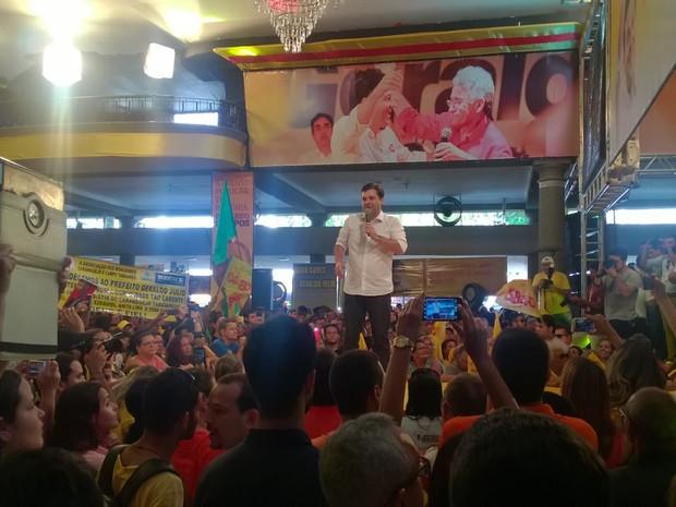 Convenção da Frente Popular do Recife oficializa prefeito Geraldo Julio como candidato à reeleição no Recife (Foto: Bruno Fontes/G1)