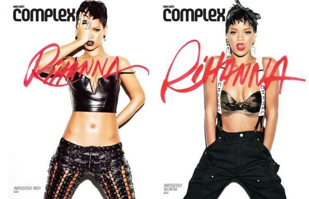 Rihanna e as capas inspiradas nos CDs (Foto: Reprodução)