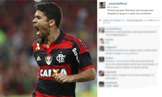 Eduardo da Silva flamengo  (Foto: Reprodução / Instagram)