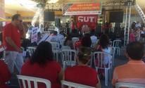 Centrais sindicais realizam ato no Dia do Trabalho (Vanessa Martins/ G1)