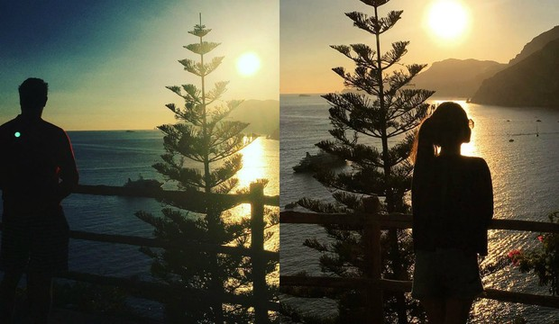 Fábio Assunção e Pally Siqueira em férias na Itália (Foto: Reprodução / Instagram | Montagem: EGO)