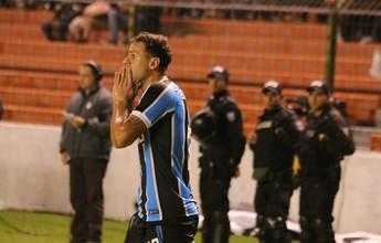 Melhor ataque do Brasil, Grêmio vê índice de chutes desabar em derrota
