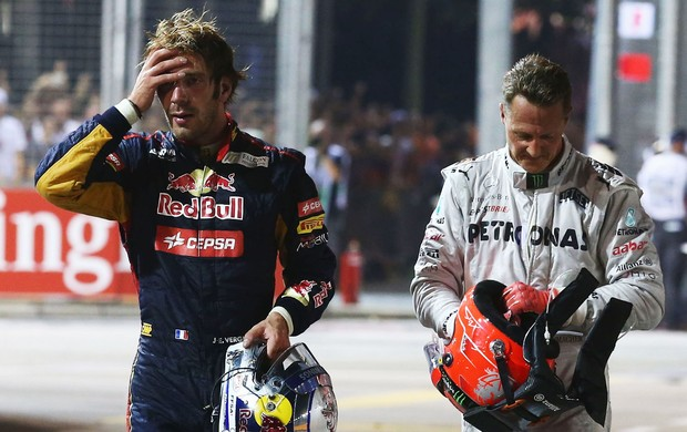 Vergne schumacher cingapura fórmula 1 (Foto: Getty Images)