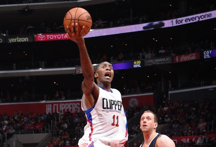 Jamal Crawford vai para a bandeja em busca de mais dois pontos para os Clippers (Foto: Getty Images)