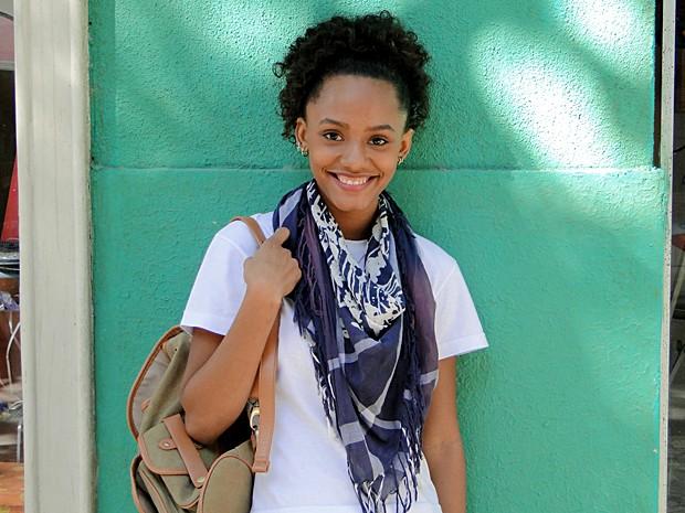 A carioca Jéssica Ellen cresceu gosta de dança contemporânea e luta capoeira (Foto: Malhação / TV Globo)