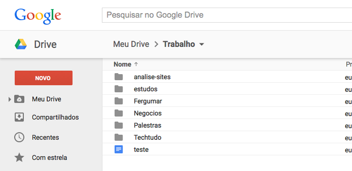Abrindo arquivo no Google Drive (Foto: Reprodução/Edivaldo Brito) (Foto: Abrindo arquivo no Google Drive (Foto: Reprodução/Edivaldo Brito))