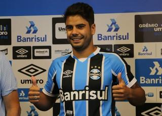 Henrique Almeida Grêmio (Foto: Eduardo Moura/GloboEsporte.com)