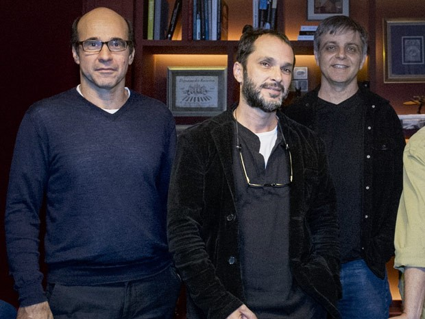 George Moura, José Luiz Villamarim e Sergio Goldenberg (Foto: Estevam Avellar / TV Globo)