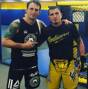 Daniel Wanderley e Anthony Pettis UFC MMA (Foto: Arquivo Pessoal)