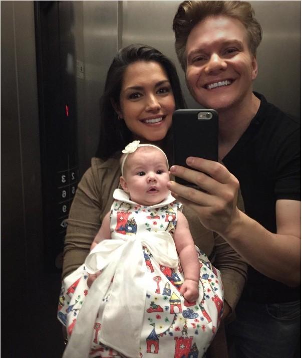 Thais Fersoza, Melinda e Michel telo (Foto: instagram)