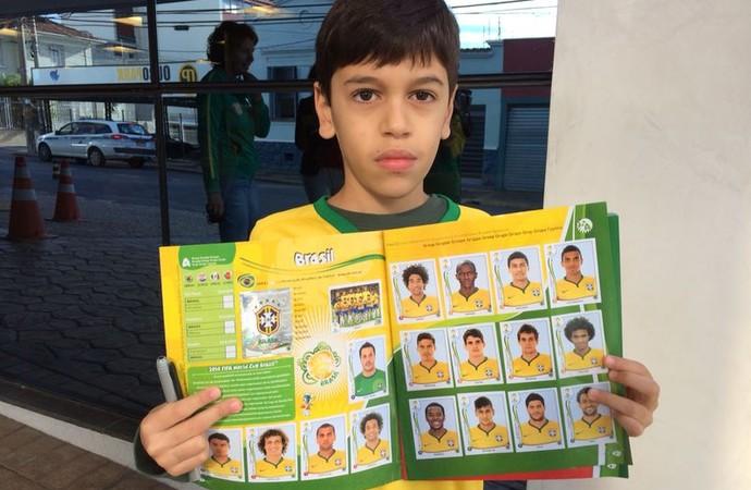 Vitor Camargo torcedor Brasil fã de Oscar Campinas (Foto: Marcello Carvalho)