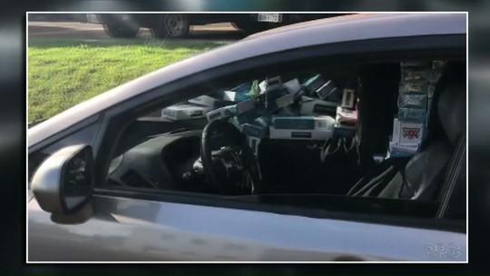 Quatro homens são presos com carga de cigarros contrabandeados em Santa Terezinha de Itaipu