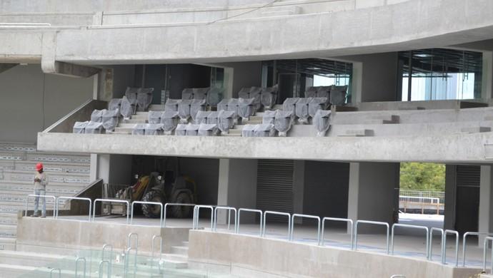 Área VIP da Arena da Baixada, do Atlético-PR (Foto: Site oficial do Atlético-PR/Divulgação)