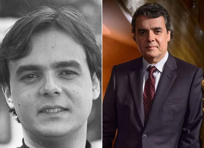 João Alfredo, papel de Cássio Gabus Mendes em Anos Rebeldes, era um jovem que se sensibilizava com as questões sociais e que atuava no movimento estudantil (Foto: CEDOC / Alex Carvalho / TV Globo)