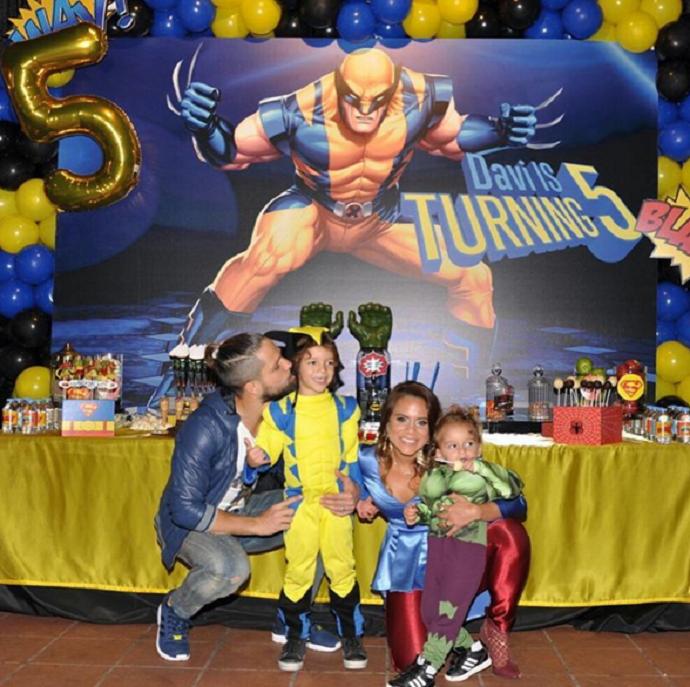 BLOG: Filho de Diego, ex-Santos, completa 5 anos e ganha festa de Wolverine