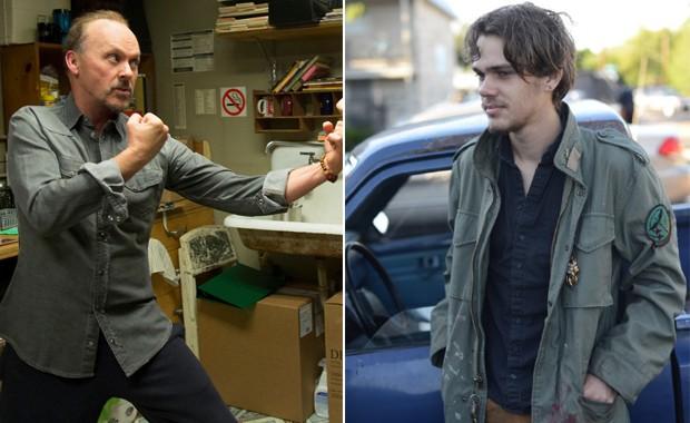 À esquerda, cena de 'Birdman', e à direita, de 'Boyhood'. Os dois filmes são favoritos ao Oscar 2015 (Foto: Divulgação)