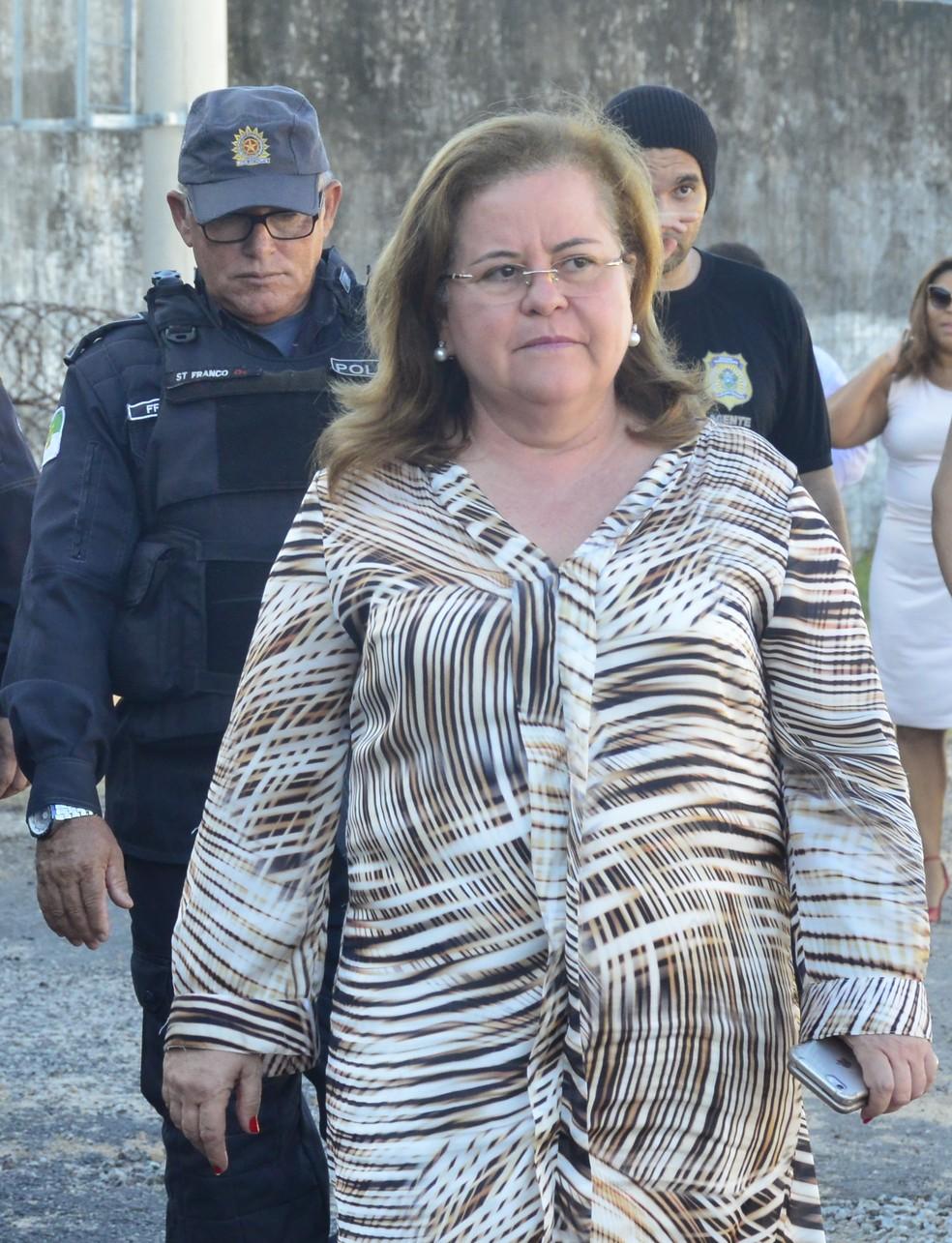 Secretária-chefe do Gabinete Civil, Tatiana Mendes Cunha participou da entrega do pavilhão 2 de Alcaçuz (Foto: Andréa Tavares/G1)
