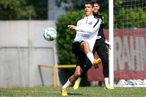 Gustavo Henrique treino Santos (Foto: Guilherme Dionízio/Estadão Conteúdo)