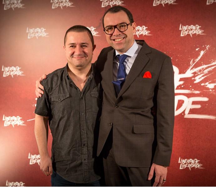 Os autores Tarcísio Lara Puiati e Mario Teixeira (Foto: Fabiano Battaglin/Gshow)