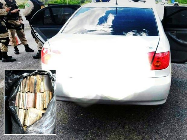 Homem é preso com R$ 50 mil escondidos em compartimento de veículo na Fernão Dias (Foto: Polícia Rodoviária Federal)