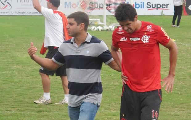 caceres flamengo (Foto: Janir Junior/Globoesporte.com)