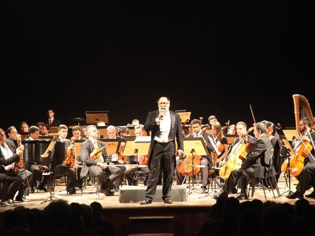 Orquestra Sinfônica de Santos fará apresentação nesta quinta-feira (24) (Foto: Ronaldo Andrade / Prefeitura de Santos)