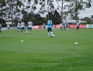 Reservas do Palmeiras treinam na Academia de Futebol (Foto: Rodrigo Faber/Globoesporte.com)