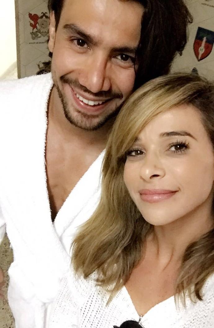 Dany Bananinha registra reencontro com o ex-namorado Mariano (Foto: Arquivo Pessoal)