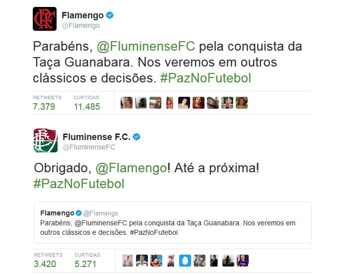 Flamengo e Fluminense trocam gentilezas após clássico