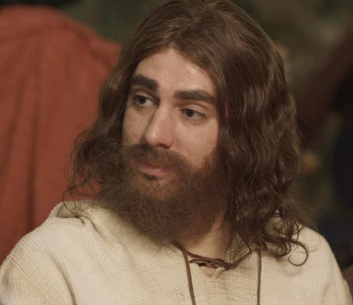 Marcelo Adnet interpreta Jesus no Tá no Ar (Foto: TV Globo)
