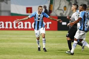 Zamora x Grêmio Libertadores Luan gol (Foto: Lucas Uebel / Grêmio / Divulgação)