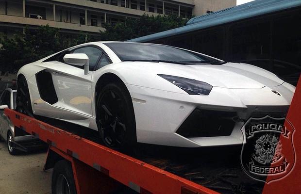 Lamborghini Aventador (Foto: Policia Federal (Divulgação))