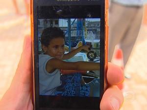 Thiago Damasceno, 7 anos, desaparecido após rompimento de barragens. (Foto: Reprodução/TV Globo)