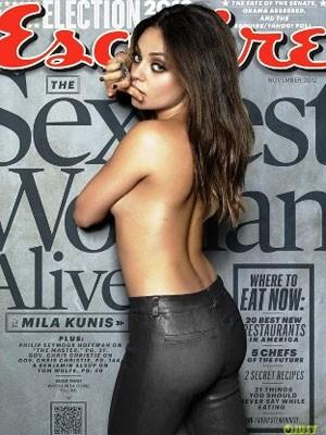 Mila Kunis estampa a capa da revista como a mulher mais sexy do ano (Foto: Reprodução)