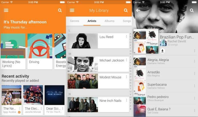 Acesse o streaming ilimitado de músicas do Google com o Google Play Music (Foto: Divulgação/AppStore)