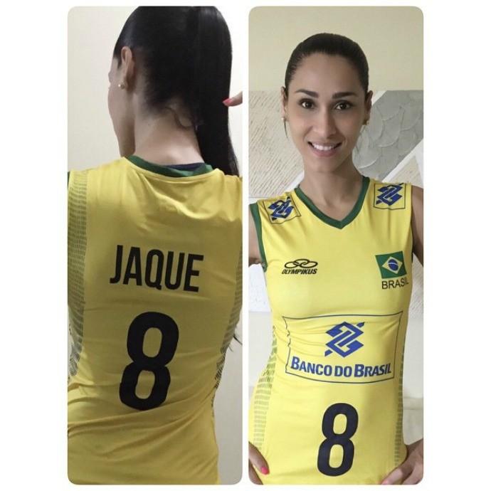 vôlei Jaqueline novo uniforme (Foto: Reprodução Instagram)
