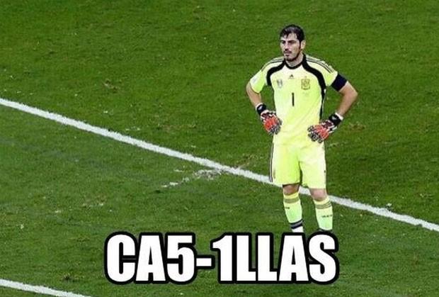 Casillas placar (Foto: Reprodução)