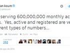 WhatsApp tem 600 milhões de usuários ativos mensais, diz empresa