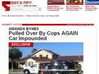 Site mostra o momento em que o carro de Amanda Bynes é apreendido