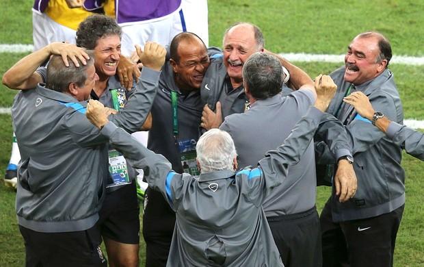 Felipão comemoração Brasil Espanha final (Foto: Reuters)