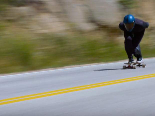 Kyle Wester em atividade para bater o recorde de velocidade em downhill no Colorado (Foto: Reproduo)