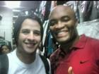 Em dia de UFC, famosos torcem para Anderson Silva nas redes sociais