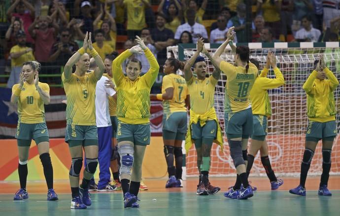 Handebol Brasil comemoração (Foto: Reuters)