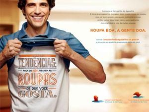 Cartaz da campanha do agasalho deste ano (Foto: Divulgação)